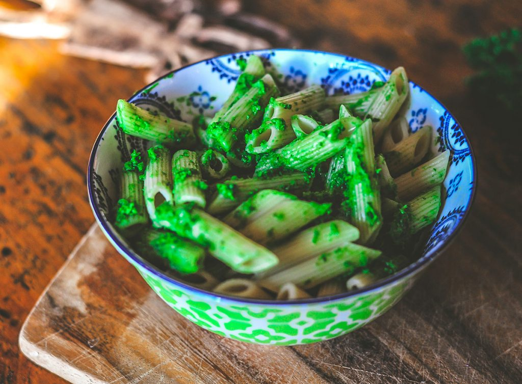 Green Mojo Sauce Pasta
