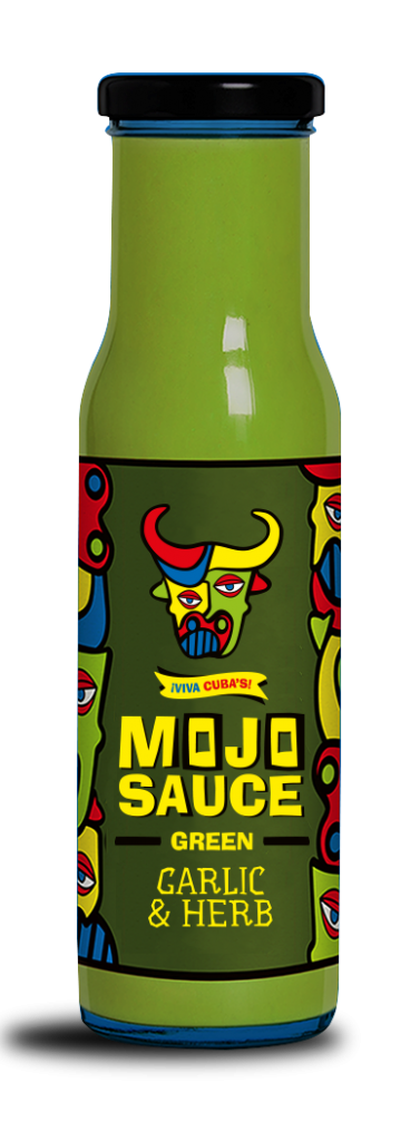 Bottle of Green Mojo Sauce